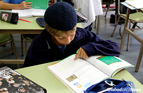 Students from across the spectrum of the Buenos Aires Jewish community attend the Chabad-run school.