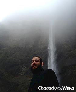 Marasow, originally from Montreal, at Multnomah Falls on in Oregon