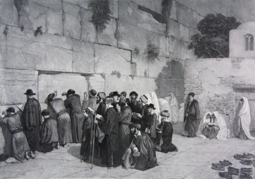 Jews at the Western Wall by Alexandre Bida