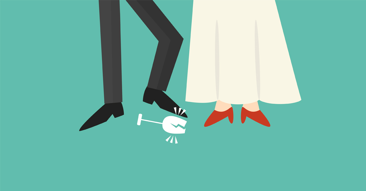 why do jewish weddings stomp on glass