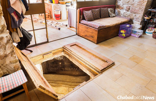 An astonishing discovery beneath the floor of a home in the Ein Karem section of Jerusalem. (Photo: Assaf Perez)