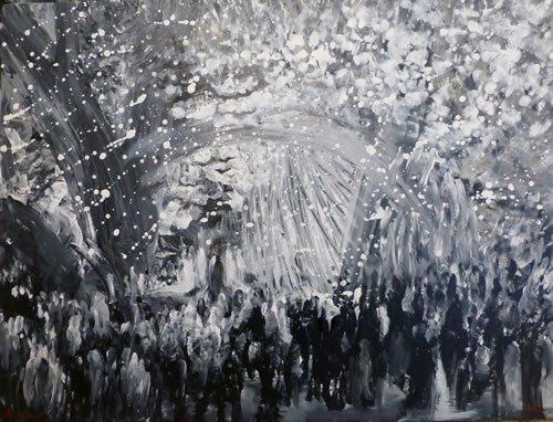 היהודים נמשלו לכוכבים. ציור: יורם רענן