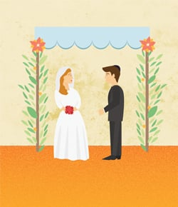 married and looking in canopy