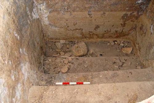 מקוה טהרה עתיק שהתגלה בקרית היובל, ירושלים. צילום: רשות העתיקות