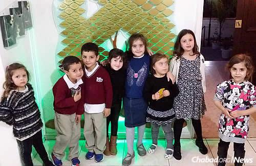"""Children at the Chabad House; a Hebrew school and kindergarten were established as soon as the Raskins arrived. As Shaindel Raskin says: """"We needed to have an educational framework for our children."""""""
