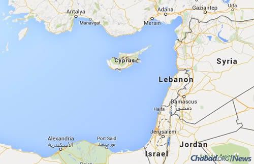 Located in the eastern Mediterranean, Cyprus is visited by young Israeli vacationers, as well as home to Israeli families who have relocated there for business or as diplomatic representatives. (Map: Google)