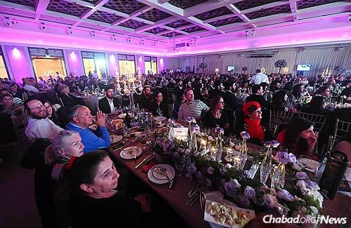 Community members and visitors attended at a Friends of Chabad dinner, held in part to help raise funds for the new building.
