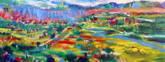 Eikev Art: A Land of Brooks, Mountains, Valleys and Seven Sacred Fruits