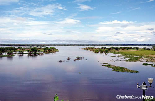 The placid river near Iquitos, known as the most isolated city in South America
