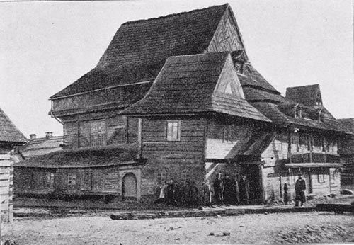 The shul in Zabłudów, Poland. (photo: Mathias Bersohn)