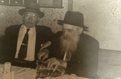 Reb Yisroel Dov Waxman celebrating the second time he completed studying the entire Talmud (he would go on to do so one more time).