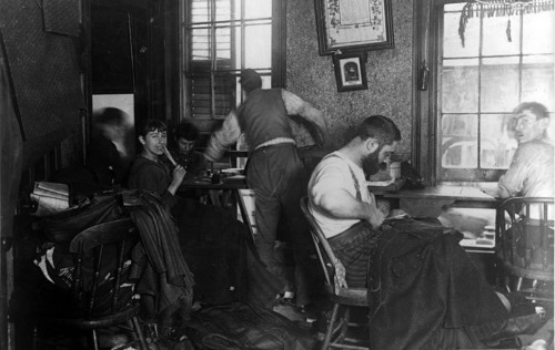 Many of New York's Jews eked out a living working in the garment industry's infamous sweatshops.