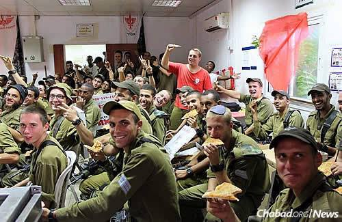 """There really can never be enough pizza, even in Israel. Cohen says that """"instead of a big party, we have chosen Chai Elul this year to kick off a fundraising event to enable us to continue efforts to further the growth of Chabad in Hebron."""""""