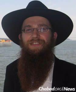 Rabbi Yisroel Gurevitz, co-director of Chabad of Kiryat Krinitzi in Ramat Gan, Israel