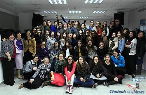 Teen volunteers with Friendship Circle Central Jerusalem, led by Rabbi Eliyahu and Chana (Chanie) Canterman, co-directors of the Chabad Center of Talbiyeh/Mamilla, with help from one employee and a volunteer consultant. The program is looking to bring on more employees as it continues to grow.