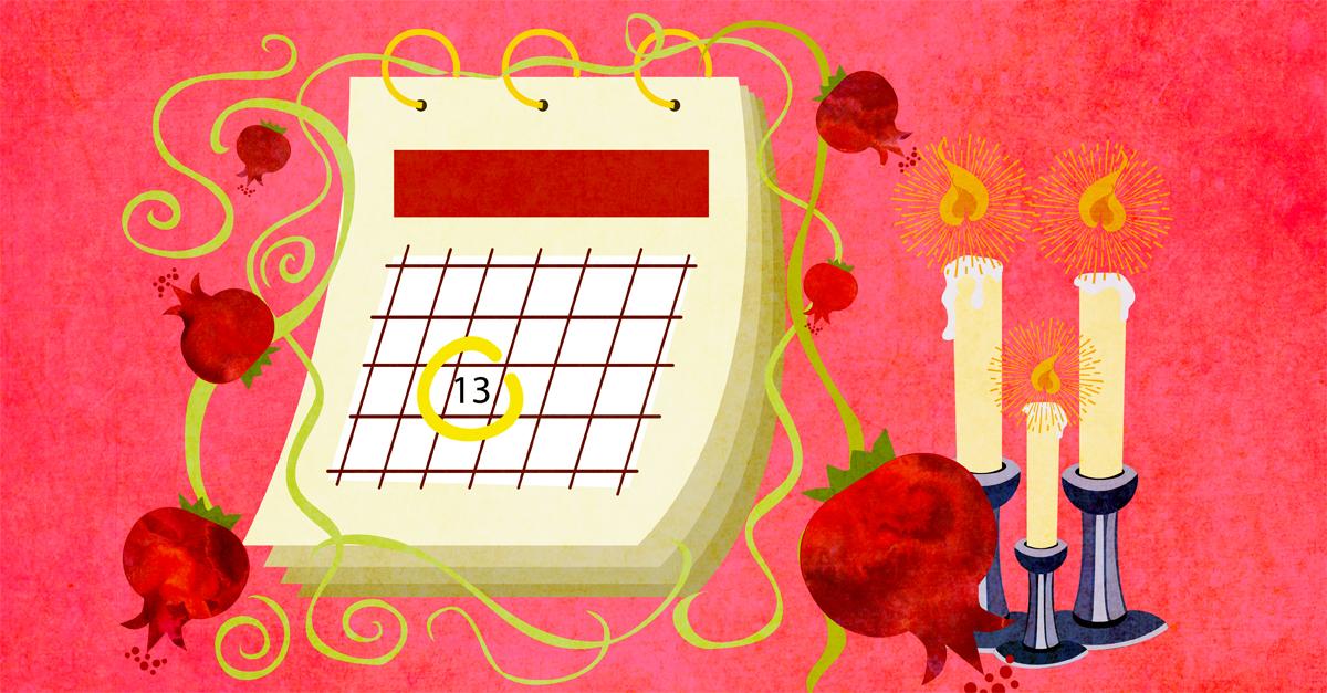 The Rosh Hashanah 2019 Calendar - Rosh Hashanah 5780