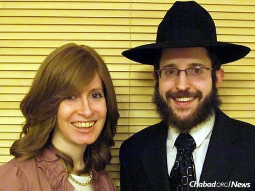 Rabbi Michoel and Esther Rose, Chabad-Lubavitch emissaries in Cardiff, Wales