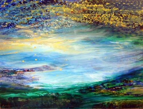 שמים וארץ נפגשים. ציור: יורם רענן