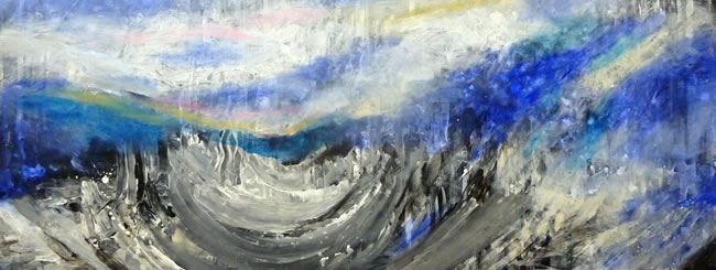 Noach Art: Surging, Turbulent Floodwaters