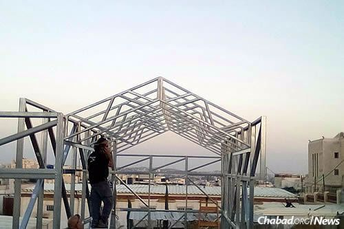 Nepal was devastated after a 2015 earthquake that leveled homes across the nation. Rabbi Chezky Lifshitz, co-director of Chabad of Nepal with his wife, Chani, partnered with an Israeli firm to design affordable metal frames for houses that can be finished using local building materials.