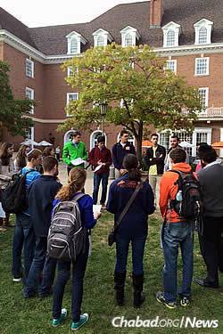 A rally was held last Tuesday in the quad at the University of Illinois and Champaign-Urbana.