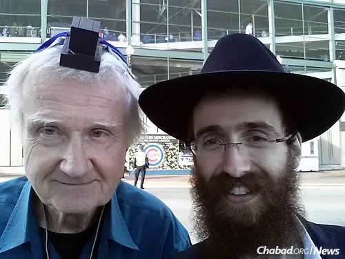 Men of all ages have stopped by to don tefillin and say a prayer.