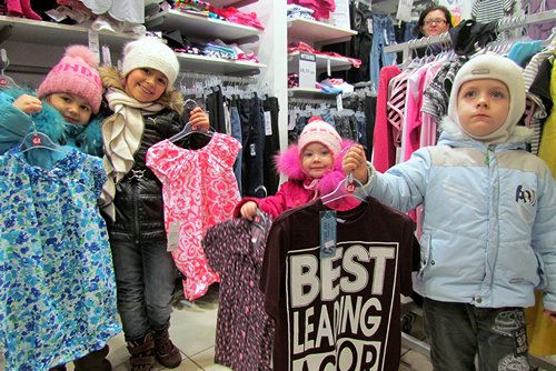 The kids walk away with a boost to their wardrobes and to their self-esteem.