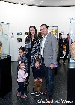 The artist's nephew, Mousa Saad, and family (Photo: Meir Pliskin)