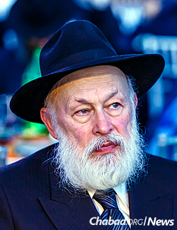 Rabbi Yehuda Krinsky, chairman of Merkos L'Inyonei Chinuch, the educational arm of the Chabad-Lubavitch movement. (Photo: Eliyahu Parypa/Chabad.org)