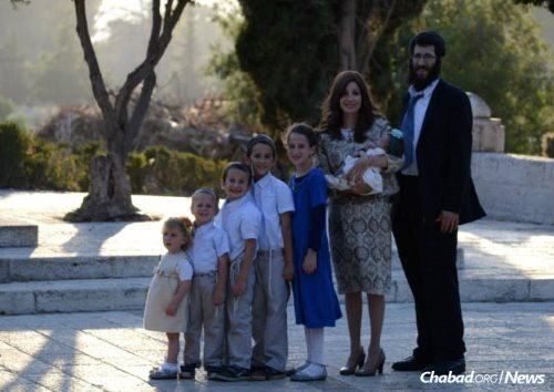 The Hendel family at the Haas Promenade in East Talpiot.