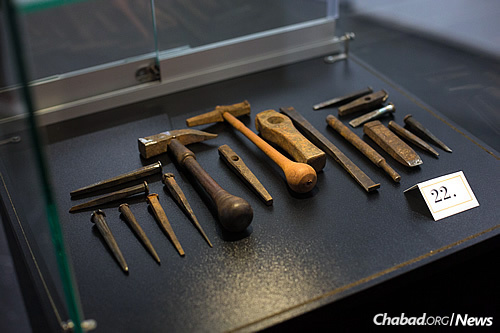 Some of the original craft tools Nseiri has used over the course of his career. (Photo: Meir Pliskin)