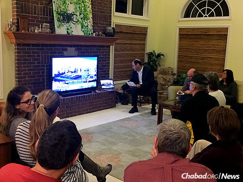 Avi Frenkel shares a video about the three Israeli teenagers—his son Naftali, and Gilad Shaar and Eyal Yifrach—who were kidnapped and killed in June 2014. He spoke as part of a post-Shabbat evening program for students and the local community, held at Chabad at the University of Illinois and Champaign-Urbana.