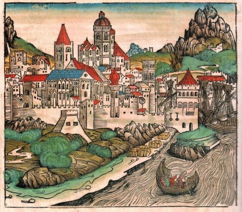 """העיירה מגנצא מתוך """"דברי הימים של נירברג"""""""