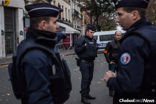 The French army has been called up to guard the streets, along with French police.