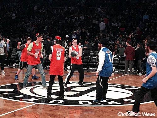 "For the third straight season, the NBA's Brooklyn Nets are teaming up with Cteen to host ""Jewish Heritage Night"" at the Barclays Center in Brooklyn, N.Y., in honor of Chanukah. The Dec. 10 event will kick off with a ""Rabbis vs. Teens"" basketball game, and then the Nets take on the Philadelphia 76ers. (Photo: Bentzi Sasson)"