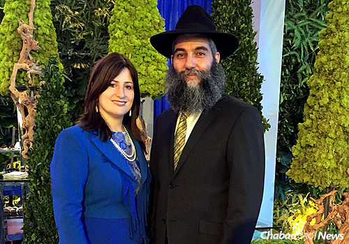 Rabbi Aaron L. Laine with his wife, Fradel