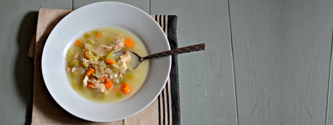 Chicken Soup, Kreplach & Matzah Balls: Filling Chunky Chicken-Barley Soup