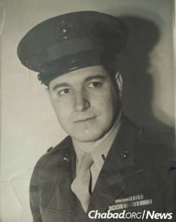 Lassner as a U.S. Marine during World War II
