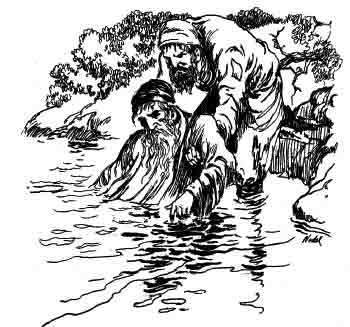 """A poor beggar appeared out of no where, and pulled him out of the water."""