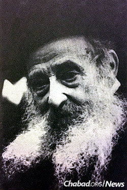 Reb Shmuel Yitzchak Raices in his later years. He traveled to Haditch in 1939, at the height of Stalinist repression, as a representative of the Chassidic community in Moscow. The NKVD was made aware that a Chassid had been there, making unsuccessful inquiries as to who it was.