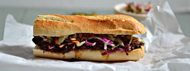 Meat: Pulled Beef Sandwiches with Crunchy Coleslaw