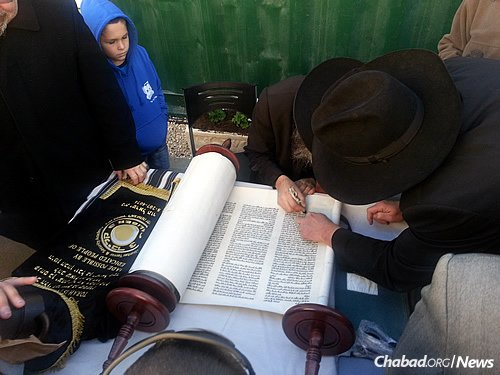 Israel's very first kibbutz—Kibbutz Degania Alef on the shores of the Kinneret—now has a kosher Torah scroll for use for services, holidays, religious ceremonies and more.