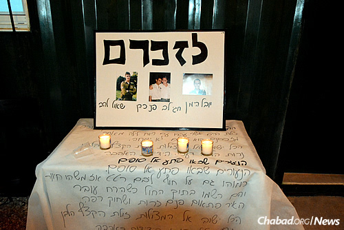 Donated by the Sragowicz family of Florida, the new sefer Torah is dedicated to the memory of four young Israeli Defense Forces soldiers killed in battle.