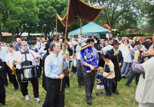 A new Torah being welcomed in Skokie, Ill.