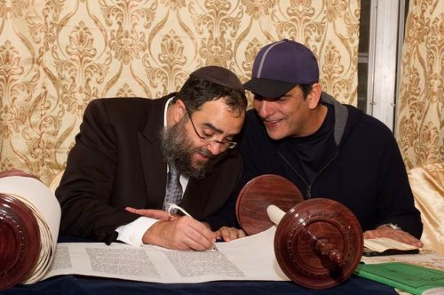 Completing a Torah in Clearwater, Fla.