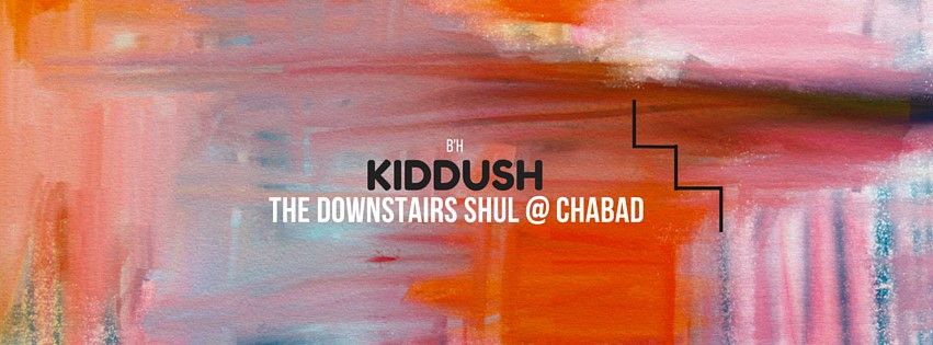 Downstairs Kiddush