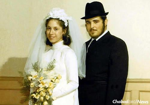 The Gordons on their wedding day