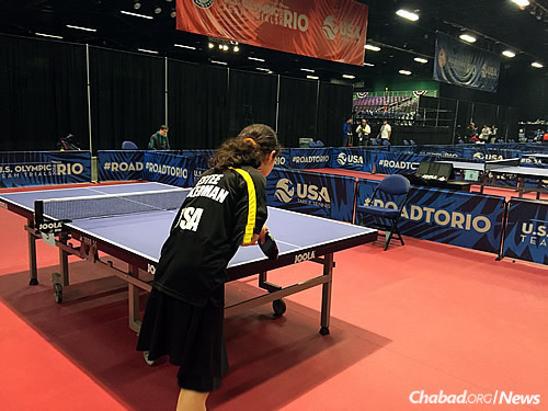 "Estee lost the first two matches on a Thursday and Friday, and decided not to compete in the third one on Saturday. ""I was disappointed,"" she acknowledged. ""But as much as I love table tennis, not playing on Shabbos is a greater reward."""
