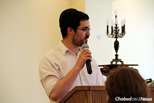 CTeen summer coordinator Rabbi Nachman Rivkin