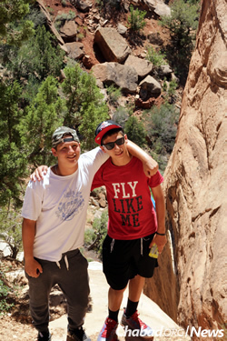 "In Zion National Park, part of the ""CTeen Xtreme"" summer adventure out West"
